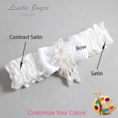 Couture Garters / Custom Wedding Garter / Customizable Wedding Garters / Personalized Wedding Garters / Joelle #01-B31-M38 / Wedding Garters / Bridal Garter / Prom Garter / Joelle Joyce Couture