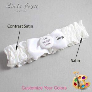 Couture Garters / Custom Wedding Garter / Customizable Wedding Garters / Personalized Wedding Garters / Custom Button #01-B31-M44 / Wedding Garters / Bridal Garter / Prom Garter / Linda Joyce Couture