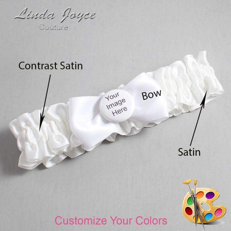Couture Garters / Custom Wedding Garter / Customizable Wedding Garters / Personalized Wedding Garters / Custom Button #01-B31-M44 / Wedding Garters / Bridal Garter / Prom Garter / Linda Joyce Couture