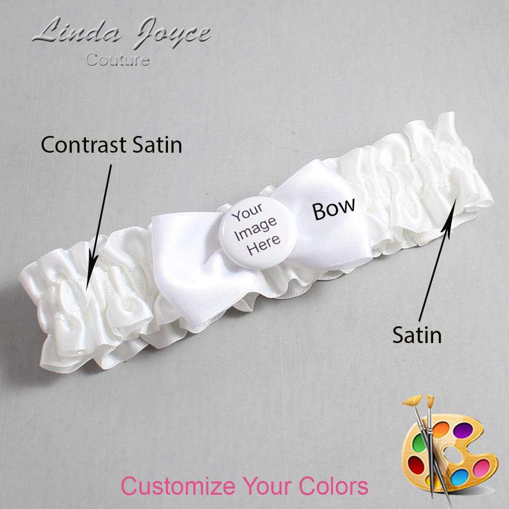 Customizable Wedding Garter / US-Military Custom Button #01-B31-M44