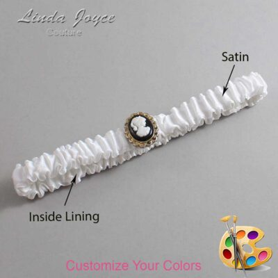 Couture Garters / Custom Wedding Garter / Customizable Wedding Garters / Personalized Wedding Garters / Cally #03-M15 / Wedding Garters / Bridal Garter / Prom Garter / Linda Joyce Couture