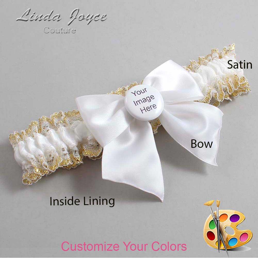 Customizable Wedding Garter / US-Military Custom Button #04-B01-M44