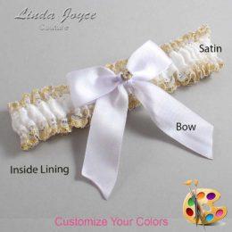Customizable Wedding Garter / Rylee #04-B02-M03-Gold