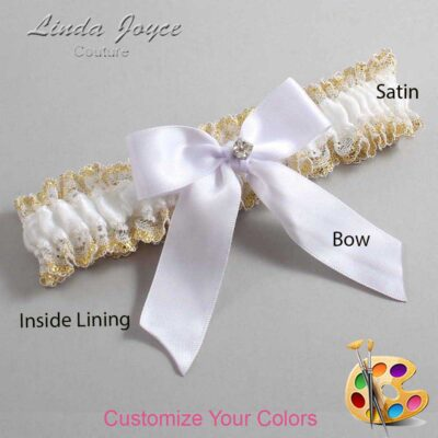 Couture Garters / Custom Wedding Garter / Customizable Wedding Garters / Personalized Wedding Garters / Rylee #04-B02-M04 / Wedding Garters / Bridal Garter / Prom Garter / Linda Joyce Couture