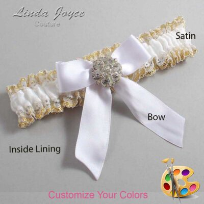 Couture Garters / Custom Wedding Garter / Customizable Wedding Garters / Personalized Wedding Garters / Sarina #04-B02-M11 / Wedding Garters / Bridal Garter / Prom Garter / Linda Joyce Couture