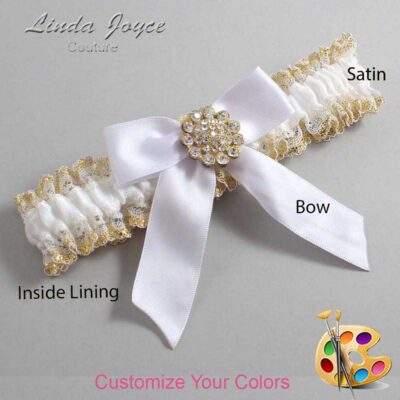 Couture Garters / Custom Wedding Garter / Customizable Wedding Garters / Personalized Wedding Garters / Tamera #04-B02-M12 / Wedding Garters / Bridal Garter / Prom Garter / Linda Joyce Couture