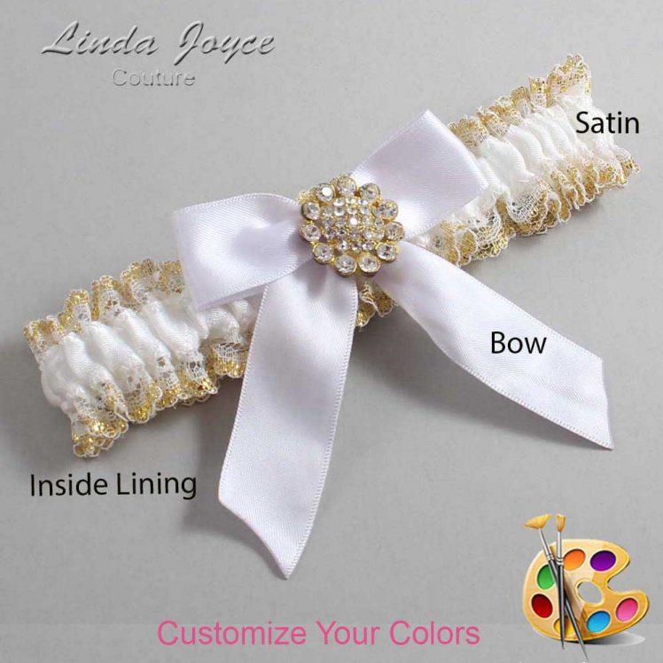 Couture Garters / Custom Wedding Garter / Customizable Wedding Garters / Personalized Wedding Garters / Tamera #04-B02-M12 / Wedding Garters / Bridal Garter / Prom Garter / Linda Joyce Couture