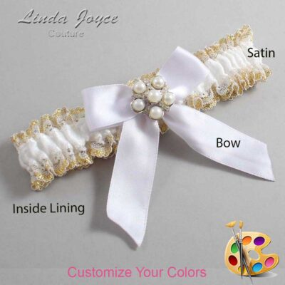 Couture Garters / Custom Wedding Garter / Customizable Wedding Garters / Personalized Wedding Garters / Sheena #04-B02-M13 / Wedding Garters / Bridal Garter / Prom Garter / Linda Joyce Couture
