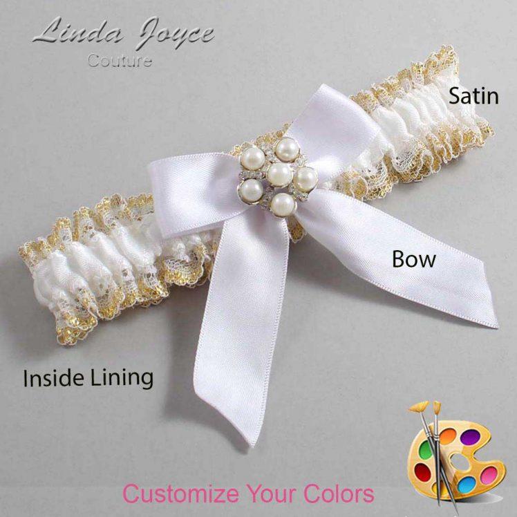 Couture Garters / Custom Wedding Garter / Customizable Wedding Garters / Personalized Wedding Garters / Sheena #04-B02-M13 / Wedding Garters / Bridal Garter / Prom Garter / Linda Joyce Couture