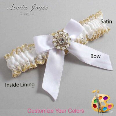 Couture Garters / Custom Wedding Garter / Customizable Wedding Garters / Personalized Wedding Garters / Wilma #04-B02-M14 / Wedding Garters / Bridal Garter / Prom Garter / Linda Joyce Couture