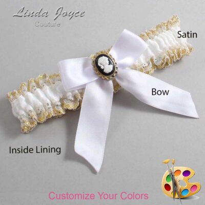 Couture Garters / Custom Wedding Garter / Customizable Wedding Garters / Personalized Wedding Garters / Sherri #04-B02-M15 / Wedding Garters / Bridal Garter / Prom Garter / Linda Joyce Couture