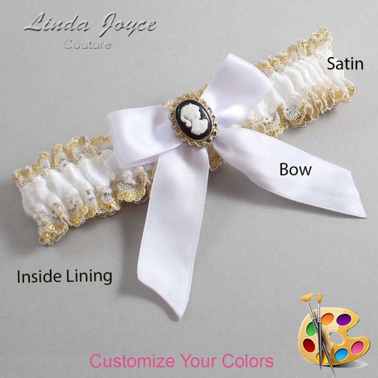 Couture Garters / Custom Wedding Garter / Customizable Wedding Garters / Personalized Wedding Garters / Sherri #04-B02-M15 / Wedding Garters / Bridal Garter / Prom Garter / Linda Joyce Couture