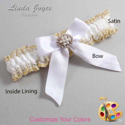 Couture Garters / Custom Wedding Garter / Customizable Wedding Garters / Personalized Wedding Garters / Penelope #04-B02-M16 / Wedding Garters / Bridal Garter / Prom Garter / Linda Joyce Couture