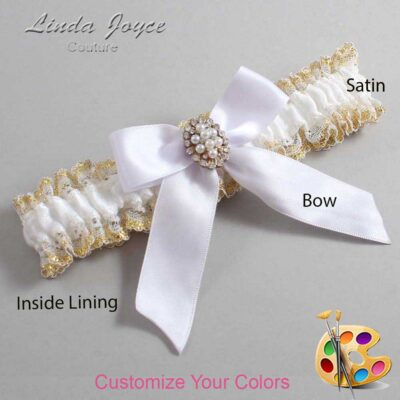 Couture Garters / Custom Wedding Garter / Customizable Wedding Garters / Personalized Wedding Garters / Quinn #04-B02-M17 / Wedding Garters / Bridal Garter / Prom Garter / Linda Joyce Couture