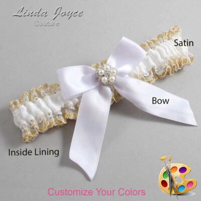 Couture Garters / Custom Wedding Garter / Customizable Wedding Garters / Personalized Wedding Garters / Prudence #04-B02-M20 / Wedding Garters / Bridal Garter / Prom Garter / Linda Joyce Couture
