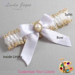 Customizable Wedding Garter / Rubie #04-B02-M21-Gold