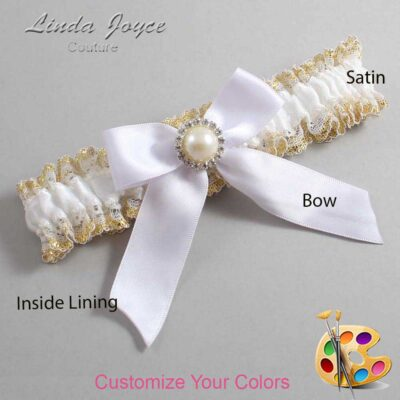 Couture Garters / Custom Wedding Garter / Customizable Wedding Garters / Personalized Wedding Garters / Rubie #04-B02-M22 / Wedding Garters / Bridal Garter / Prom Garter / Linda Joyce Couture