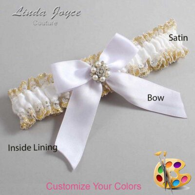 Couture Garters / Custom Wedding Garter / Customizable Wedding Garters / Personalized Wedding Garters / Natasha #04-B02-M23 / Wedding Garters / Bridal Garter / Prom Garter / Linda Joyce Couture