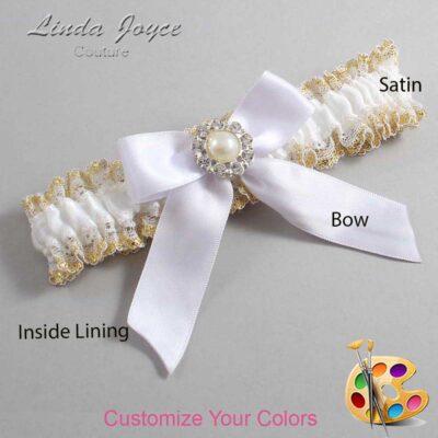 Customizable Wedding Garter / Mya #04-B02-M24-Silver