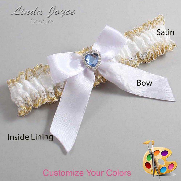 Couture Garters / Custom Wedding Garter / Customizable Wedding Garters / Personalized Wedding Garters / Misty #04-B02-M25 / Wedding Garters / Bridal Garter / Prom Garter / Linda Joyce Couture