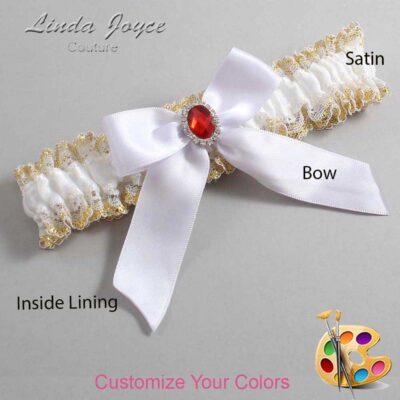 Couture Garters / Custom Wedding Garter / Customizable Wedding Garters / Personalized Wedding Garters / Nattie #04-B02-M26 / Wedding Garters / Bridal Garter / Prom Garter / Linda Joyce Couture