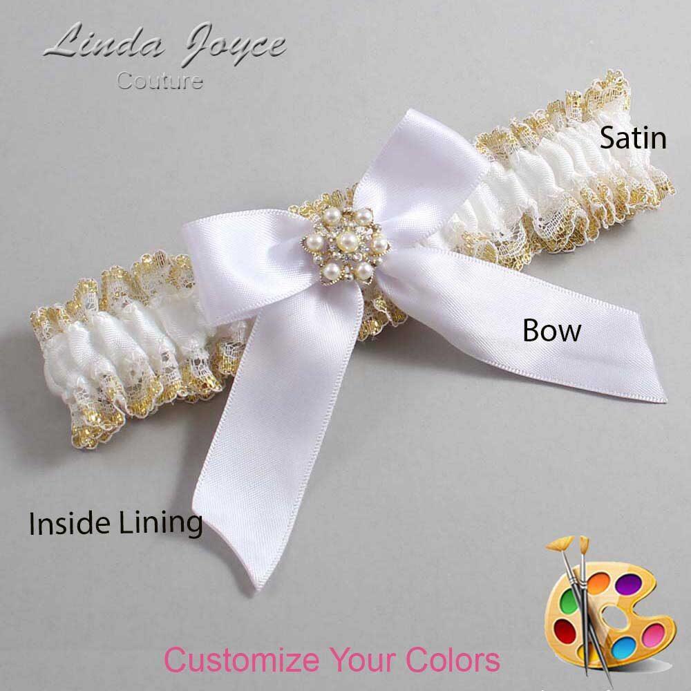 Customizable Wedding Garter / Selina #04-B02-M27-Silver