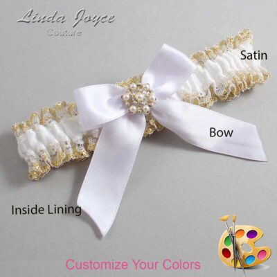 Couture Garters / Custom Wedding Garter / Customizable Wedding Garters / Personalized Wedding Garters / Selina #04-B02-M27 / Wedding Garters / Bridal Garter / Prom Garter / Linda Joyce Couture