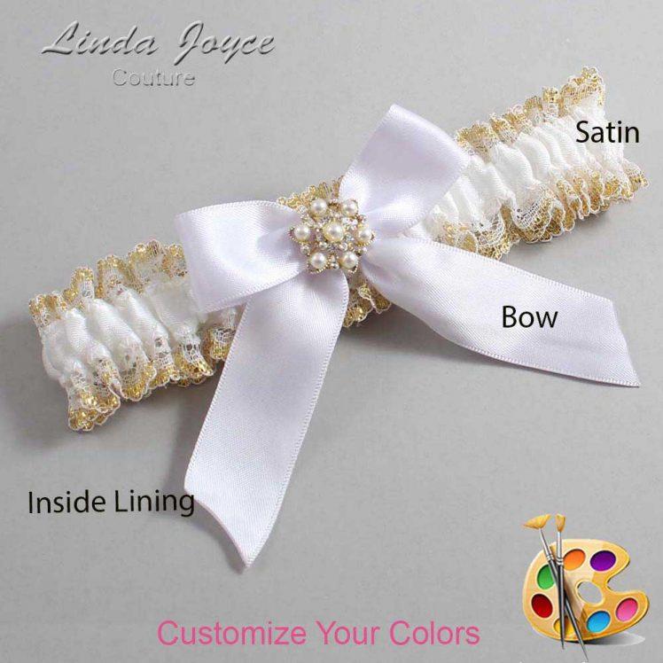 Couture Garters / Custom Wedding Garter / Customizable Wedding Garters / Personalized Wedding Garters / Selina #04-B02-M27 / Wedding Garters / Bridal Garter / Prom Garter / Linda Joyce Couture
