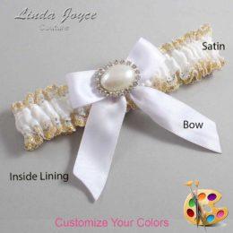 Customizable Wedding Garter / Missy #04-B02-M30-Silver