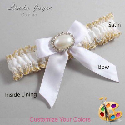Couture Garters / Custom Wedding Garter / Customizable Wedding Garters / Personalized Wedding Garters / Missy #04-B02-M30 / Wedding Garters / Bridal Garter / Prom Garter / Linda Joyce Couture