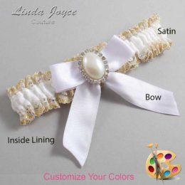 Customizable Wedding Garter / Niki #04-B02-M31-Silver