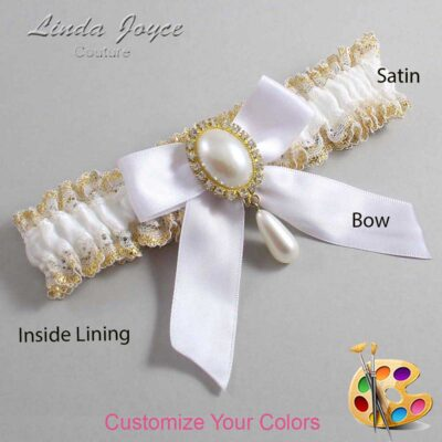 Couture Garters / Custom Wedding Garter / Customizable Wedding Garters / Personalized Wedding Garters / Trina #04-B02-M34 / Wedding Garters / Bridal Garter / Prom Garter / Linda Joyce Couture