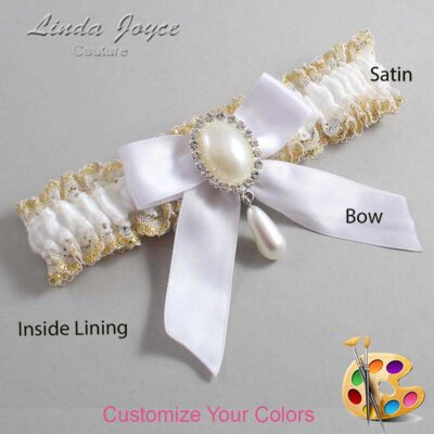 Couture Garters / Custom Wedding Garter / Customizable Wedding Garters / Personalized Wedding Garters / Trina #04-B02-M35 / Wedding Garters / Bridal Garter / Prom Garter / Linda Joyce Couture
