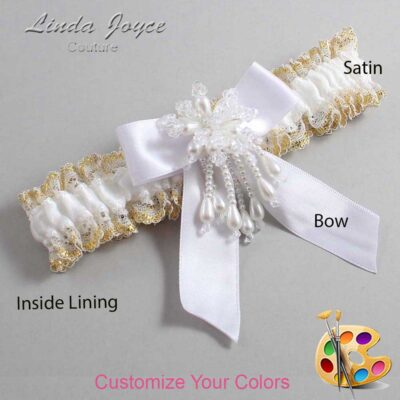 Couture Garters / Custom Wedding Garter / Customizable Wedding Garters / Personalized Wedding Garters / Merlene #04-B02-M38 / Wedding Garters / Bridal Garter / Prom Garter / Linda Joyce Couture
