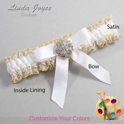Customizable Wedding Garter / Alicia #04-B03-M11-Silver
