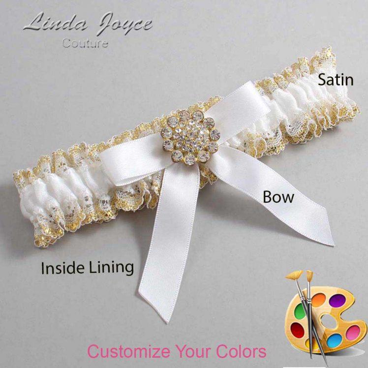 Couture Garters / Custom Wedding Garter / Customizable Wedding Garters / Personalized Wedding Garters / Samantha #04-B03-M12 / Wedding Garters / Bridal Garter / Prom Garter / Linda Joyce Couture