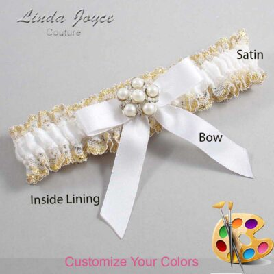 Couture Garters / Custom Wedding Garter / Customizable Wedding Garters / Personalized Wedding Garters / Natalie #04-B03-M13 / Wedding Garters / Bridal Garter / Prom Garter / Linda Joyce Couture