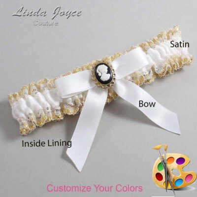 Couture Garters / Custom Wedding Garter / Customizable Wedding Garters / Personalized Wedding Garters / Dinah #04-B03-M15 / Wedding Garters / Bridal Garter / Prom Garter / Linda Joyce Couture