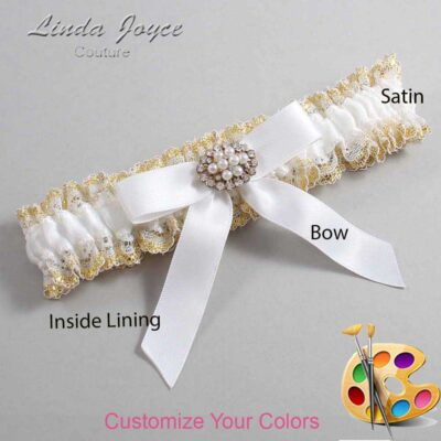 Couture Garters / Custom Wedding Garter / Customizable Wedding Garters / Personalized Wedding Garters / Daryl #04-B03-M16 / Wedding Garters / Bridal Garter / Prom Garter / Linda Joyce Couture