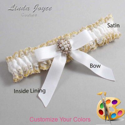 Couture Garters / Custom Wedding Garter / Customizable Wedding Garters / Personalized Wedding Garters / Jenny #04-B03-M17 / Wedding Garters / Bridal Garter / Prom Garter / Linda Joyce Couture