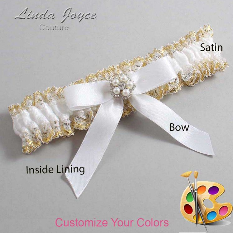 Couture Garters / Custom Wedding Garter / Customizable Wedding Garters / Personalized Wedding Garters / Amelia #04-B03-M20 / Wedding Garters / Bridal Garter / Prom Garter / Linda Joyce Couture