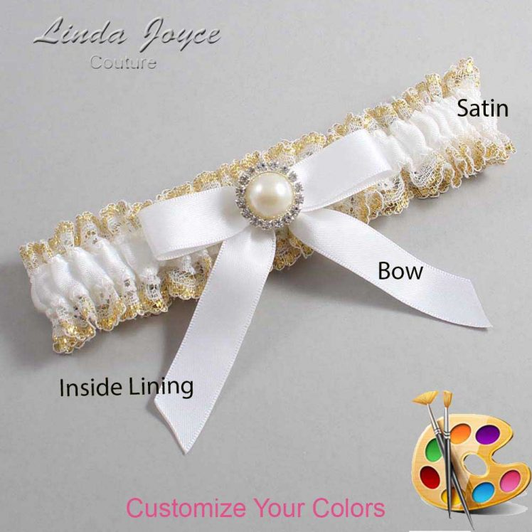 Couture Garters / Custom Wedding Garter / Customizable Wedding Garters / Personalized Wedding Garters / Doreen #04-B03-M22 / Wedding Garters / Bridal Garter / Prom Garter / Linda Joyce Couture