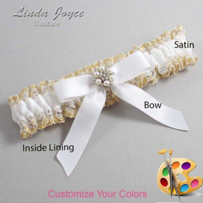 Couture Garters / Custom Wedding Garter / Customizable Wedding Garters / Personalized Wedding Garters / Kayla #04-B03-M23 / Wedding Garters / Bridal Garter / Prom Garter / Linda Joyce Couture