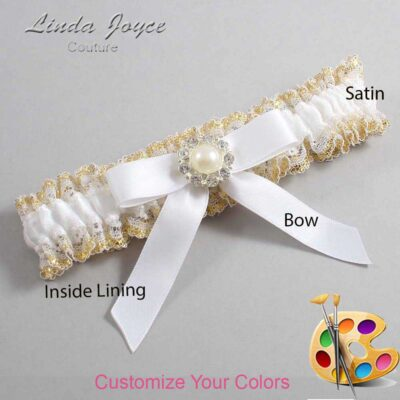 Customizable Wedding Garter / Katherine #04-B03-M24-Silver