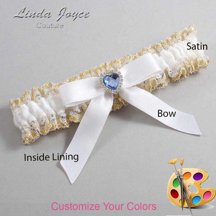 Couture Garters / Custom Wedding Garter / Customizable Wedding Garters / Personalized Wedding Garters / Gina #04-B03-M25 / Wedding Garters / Bridal Garter / Prom Garter / Linda Joyce Couture