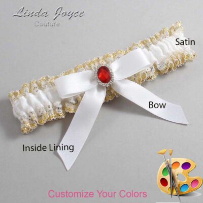 Couture Garters / Custom Wedding Garter / Customizable Wedding Garters / Personalized Wedding Garters / Fran #04-B03-M26 / Wedding Garters / Bridal Garter / Prom Garter / Linda Joyce Couture