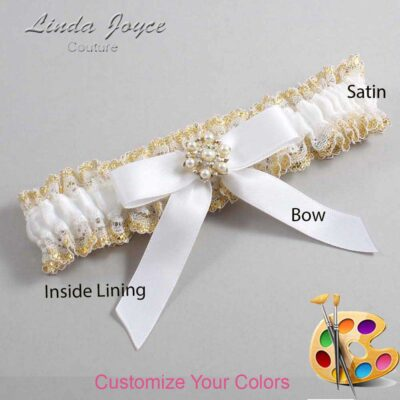 Couture Garters / Custom Wedding Garter / Customizable Wedding Garters / Personalized Wedding Garters / Carolee #04-B03-M27 / Wedding Garters / Bridal Garter / Prom Garter / Linda Joyce Couture