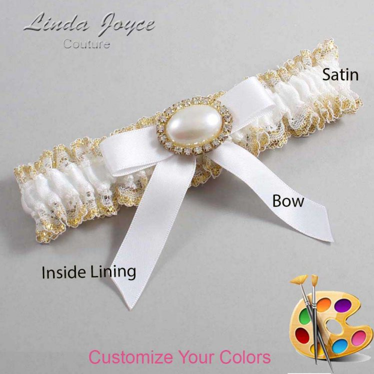 Couture Garters / Custom Wedding Garter / Customizable Wedding Garters / Personalized Wedding Garters / Eva #04-B03-M28 / Wedding Garters / Bridal Garter / Prom Garter / Linda Joyce Couture