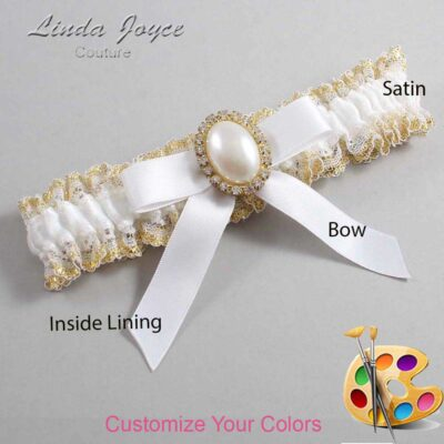 Couture Garters / Custom Wedding Garter / Customizable Wedding Garters / Personalized Wedding Garters / Harmony #04-B03-M29 / Wedding Garters / Bridal Garter / Prom Garter / Linda Joyce Couture