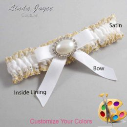 Customizable Wedding Garter / Eva #04-B03-M30-Silver